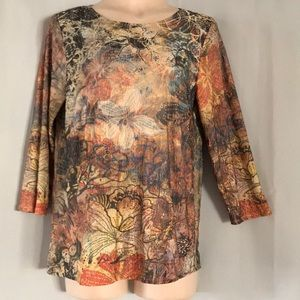 Coldwater Creek 3/4 Sleeve Top - Size L (14/16)